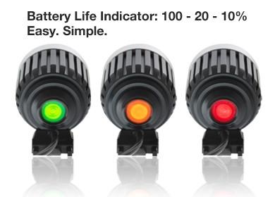 Gemini Front Light Xera 950 Lumens 2 Cell Battery