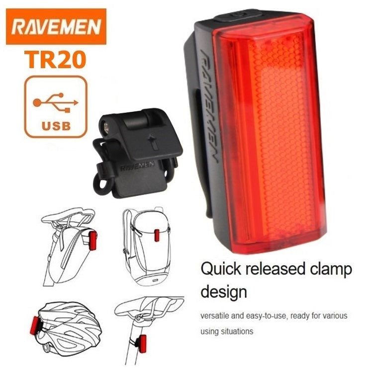 Ravemen CR500 & TR20 Front and Rear Light Set
