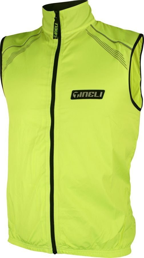 Tineli Vest Hi-Vis Yellow Solid-Back LG