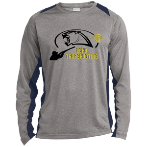 Echo Trapshooting Long Sleeve Heather Colorblock Poly T-Shirt