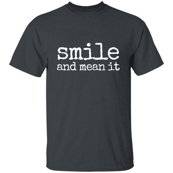 smile and mean it Youth 100% Cotton T-Shirt