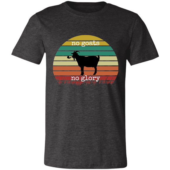 no goats no glory Unisex Jersey Short-Sleeve T-Shirt