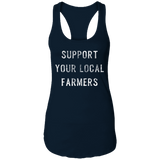 Support Farmers Ladies Ideal Racerback Tank