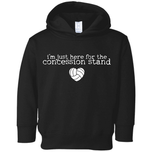 concession stand volleyball Toddler Fleece Hoodie