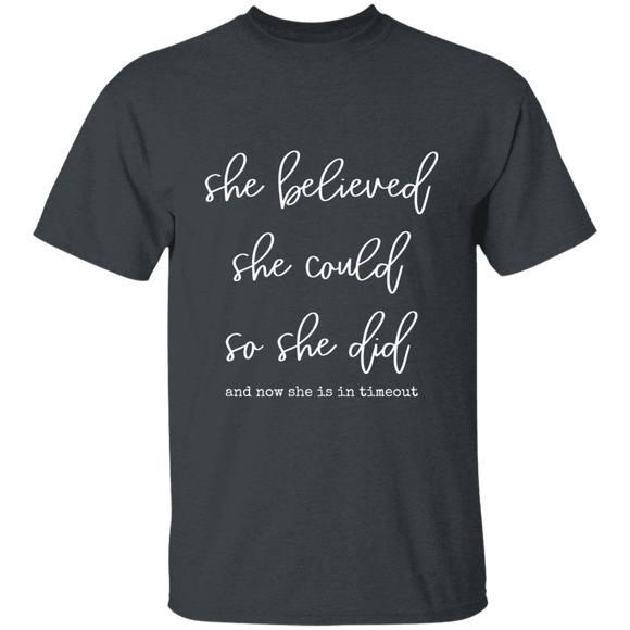she believed she could Youth 100% Cotton T-Shirt
