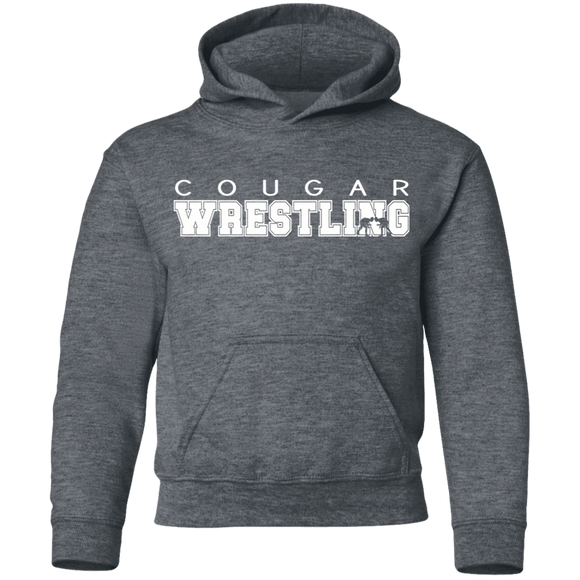 Cougar Wrestling Youth Pullover Hoodie