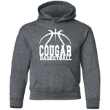 Cougar Basketball Youth Pullover Hoodie