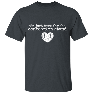 I'm here for the concession stand baseball Youth 100% Cotton T-Shirt