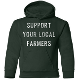 Support Farmers Youth Pullover Hoodie