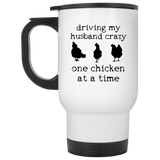 driving my husband crazy-chickens Mugs