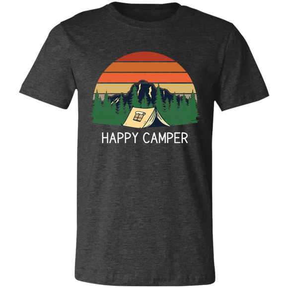 Happy Camper Unisex Jersey Short-Sleeve T-Shirt