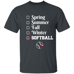 softball season Youth 100% Cotton T-Shirt
