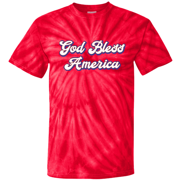 God Bless America 100% Cotton Tie Dye T-Shirt