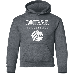 Cougar Volleyball Youth Pullover Hoodie