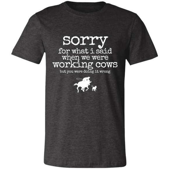 working cows Unisex Jersey Short-Sleeve T-Shirt
