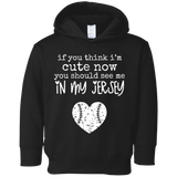 cute in my jersey Toddler Fleece Hoodie