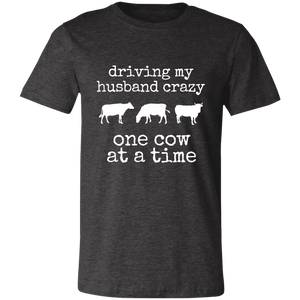 driving my husband crazy-cows Unisex Jersey Short-Sleeve T-Shirt