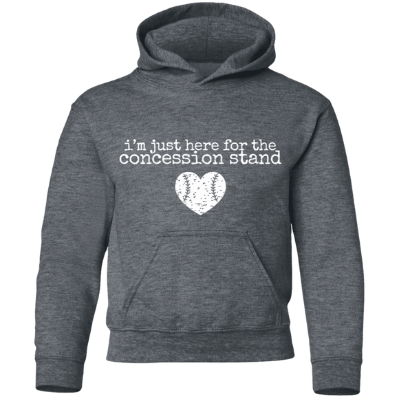 I'm here for the concession stand baseball Youth Pullover Hoodie