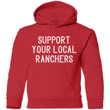 Support Ranchers Youth Pullover Hoodie