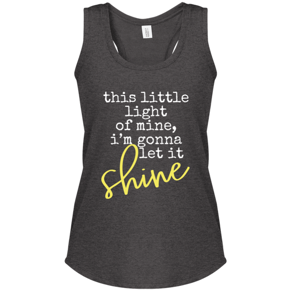 let it shine Women's Perfect Tri Racerback Tank