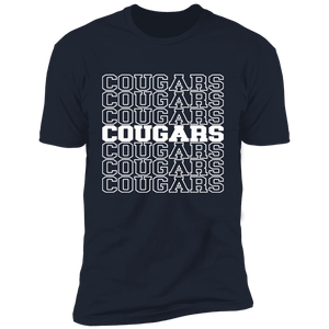 Mirror Cougars Short Sleeve T-Shirt