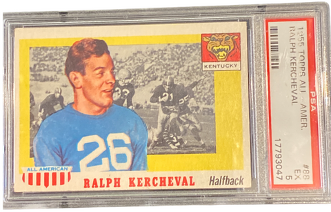 RALPH KERCHEVAL - 1955 Football Topps All-American