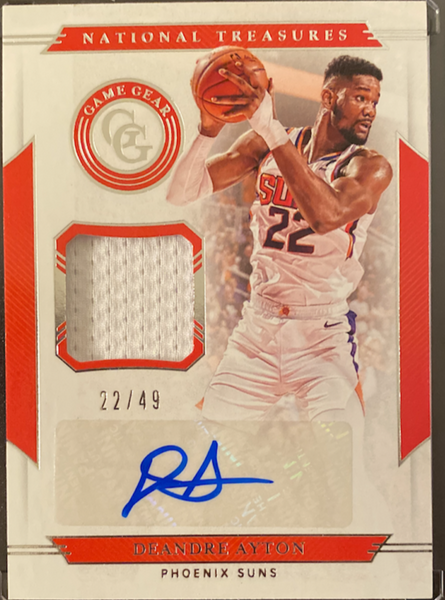 DEANDRE AYTON - 2019-20 Basketball National Treasures Jersey Auto 22/49