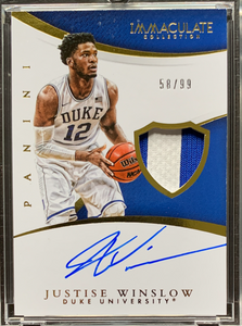 JUSTISE WINSLOW - 2015 Basketball Immaculate Collection Collegiate Multi-Sport Rookie Auto Patch 58/99