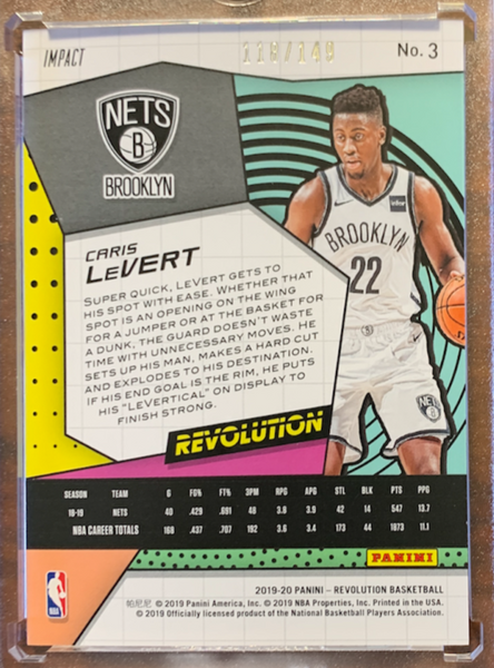 "CHRIS LeVERT - 2019-20 Basketball Revolution ""Impact"" 118/149"