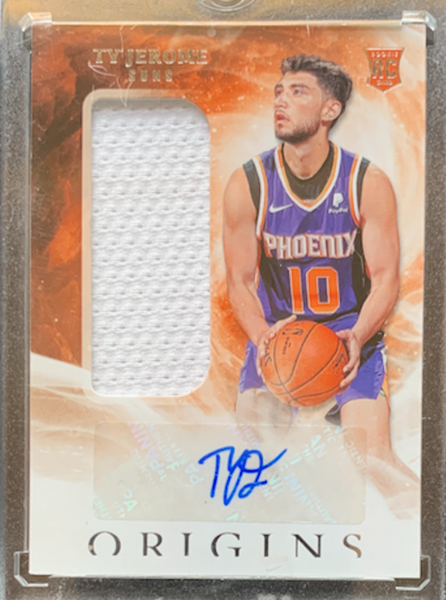 TY JEROME - 2019-20 Basketball Origins Rookie Auto Patch