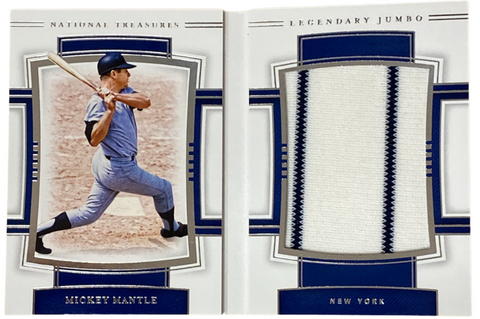 "MICKEY MANTLE - 2020 Baseball National Treasures ""Legendary jumbo Materials Booklet"" Jersey 19/25"