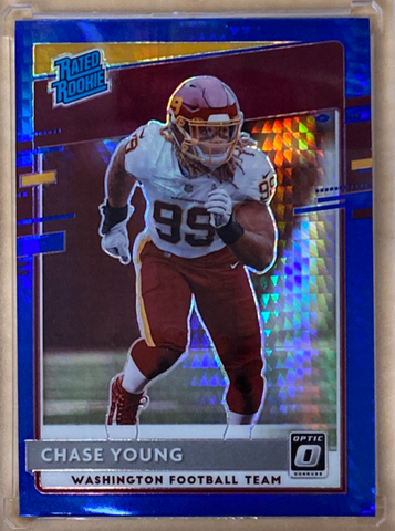 CHASE YOUNG - 2020 Football Optic Blue Hyper Prizm Rookie