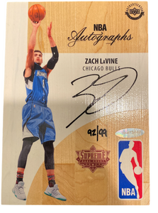 ZACH LAVINE - 2016-17 Basketball Supreme Hardcourt Auto