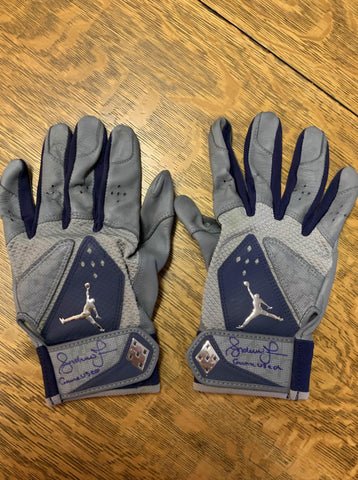 ANDRUW JONES - Game Worn, Signed Braves Batting Gloves
