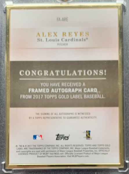 ALEX REYES - 2017 Baseball Gold Label Rookie Auto