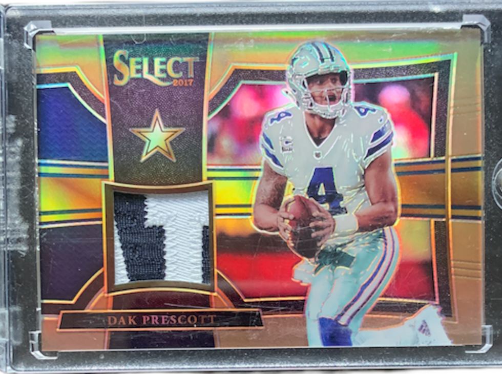 DAK PRESCOTT - 2017 Football Select Swatches Prizm Copper 52/75