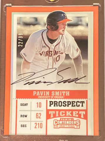 PAVIN SMITH - 2017 Baseball Contenders Draft Rookie Auto 22/99
