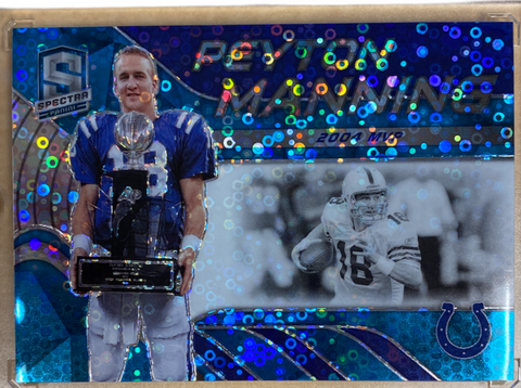 "PEYTON MANNING - 2020 Football Spectra ""Tribute"" Neon Blue 2/50"
