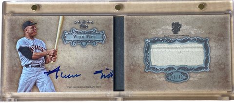 WILLIE MAYS - 2013 Baseball Five Star Jersey Auto Booklet 8/49