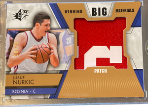 "JUSUF NURKIC - 2014-15 Basketball SPX ""Winning Big Materials"" Patch Rookie 10/25"