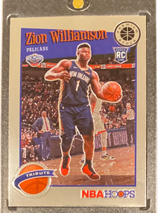 ZION WILLIAMSON - 2019-20 Basketball Hoops Premium Tribute Rookie