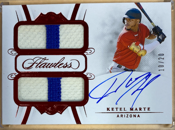 KETEL MARTE - 2020 Baseball Flawless Dual Patch Auto Ruby 10/20