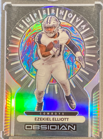 "EZEKIEL ELLIOTT - 2020 Football Obsidian ""Supernova"" 24/35"