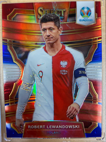 ROBERT LEWANDOWSKI - 2020 Soccer Select Euro 2020 Prizm Tri-Color
