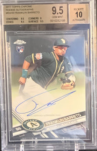 FRANKLIN BARRETO - 2017 Topps Chrome Rookie Auto BGS 9.5