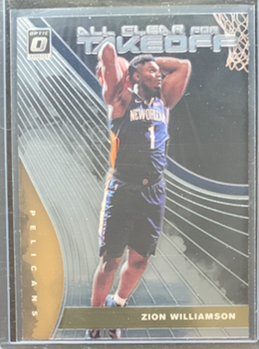 ZION WILLIAMSON - 2019-20 Donruss Optic All Clear For Takeoff Insert
