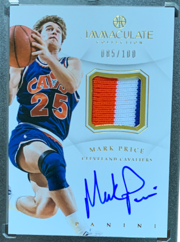 MARK PRICE - 2012-13 Basketball Immaculate Collection Patch Auto 85/100
