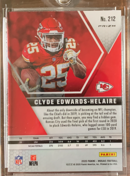 CLYDE EDWARDS-HELLAIRE - 2020 Football Mosaic Prizm Red Reactive Rookie