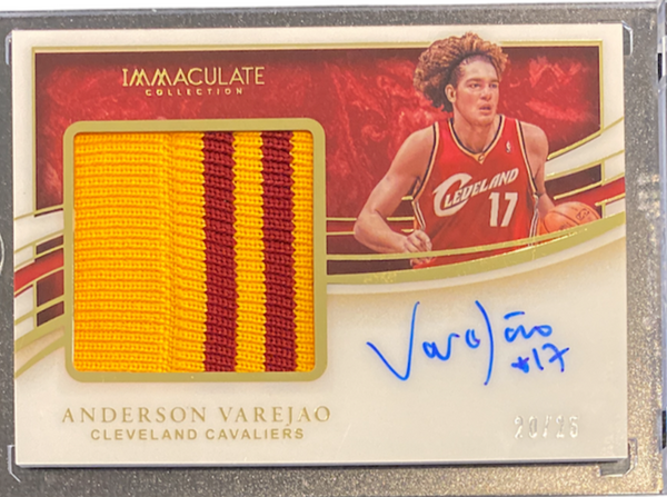 ANDERSON VAREJAO - 2019-20 Basketball Immaculate Patch Auto 20/25