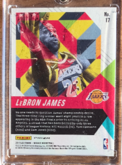 "LEBRON JAMES - 2019-20 Basketball Mosaic Prizm ""In It to Win It"""